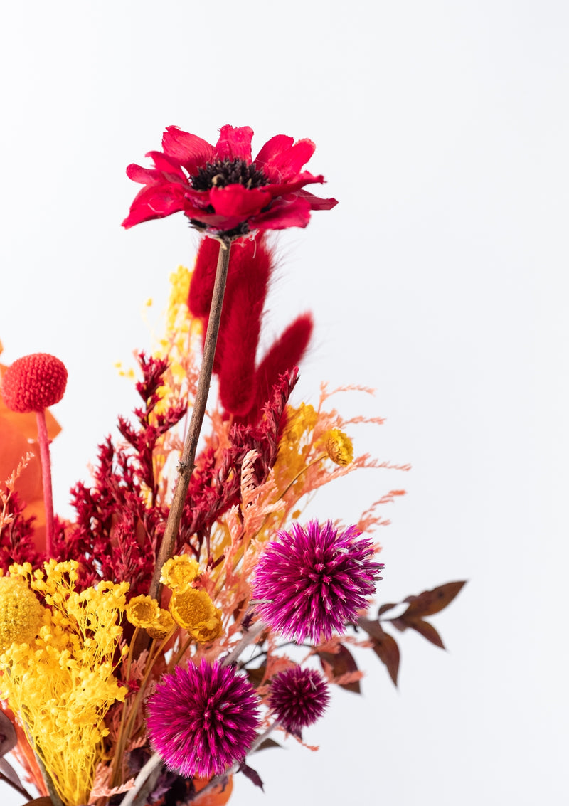 Autumn another beauty of colors and new beginnings floral arrangement in a vase by singapore florist