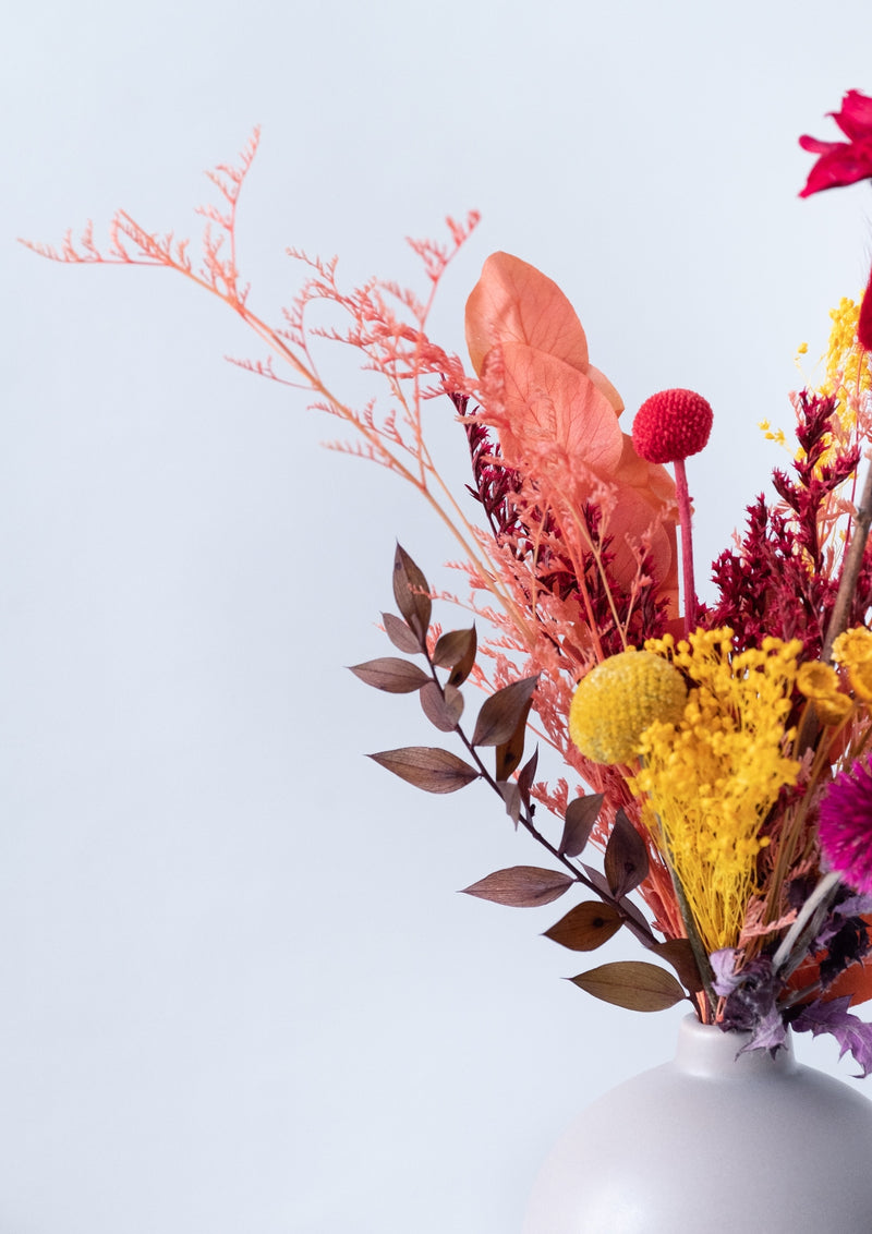Fall is proof that change is beautiful - A preserved floral arrangement designed by singapore florist floral mikelle