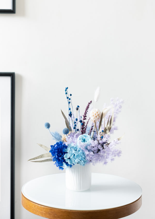 If breeze had a color, ours is gentle, demure, and cool is this preserved flower arrangement curated by singapore bespoke florist floral mikelle