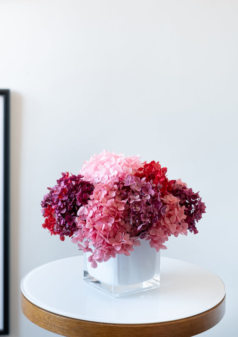 Best preserved hydrangeas arrangement in singapore arranged by bespoke florist floral mikelle