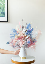 Hydrangeas filled preserved flower arrangement with free delivery in singapore by best preserved flower florist floral mikelle