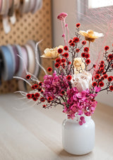 She one of a kind, beyond the present, flying amongst the stars are these preserved flower arrangement by floral mikelle