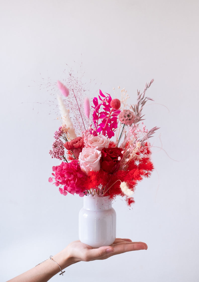 Best mothers day flowers in singapore designed with luxe red pink roses and carnations