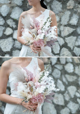 Best preserved flowers bridal bouquet and wedding flowers in singapore designed by top bespoke florist floral mikelle