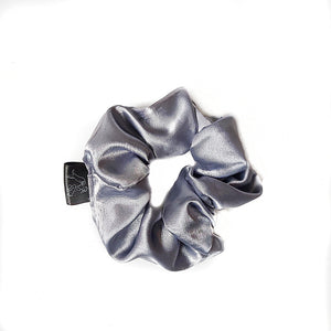 Baby Blue Silk Scrunchie