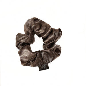Silver Metalic Scrunchie