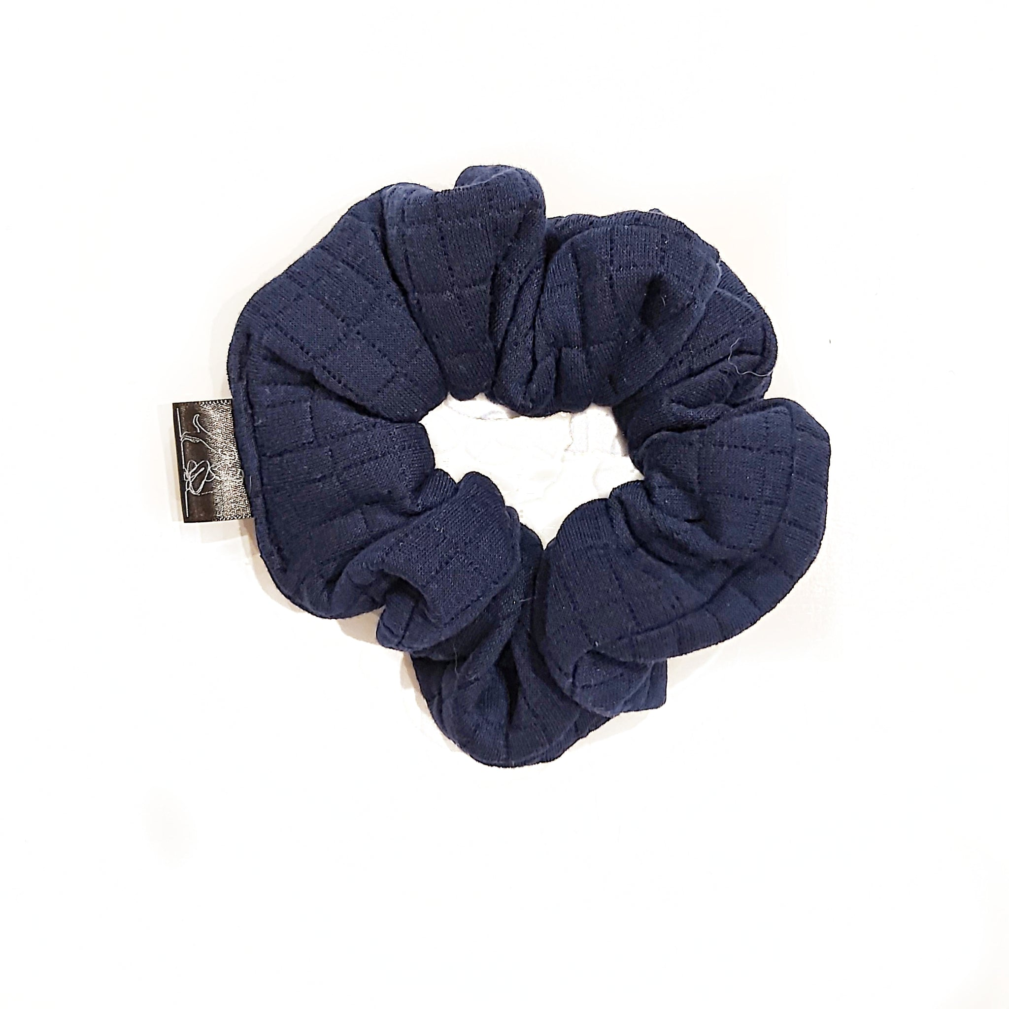 Navy Blue Plush Scrunchie