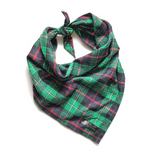 Green, Red, Black and White Plaid Bandana