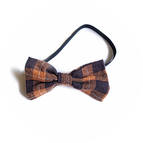 Butterscotch Plaid Bow Tie
