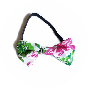 Green Tropical Bow Tie
