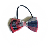 Red, Blue and White Large Checker Bow Tie