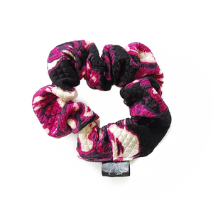 Fuchsia and Black Scrunchie