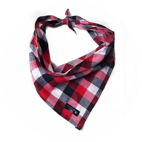 Red, Blue and White Checker Bandana
