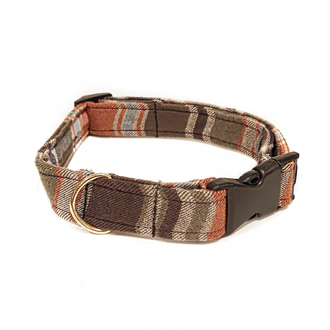 Green and Orange Plaid Collar