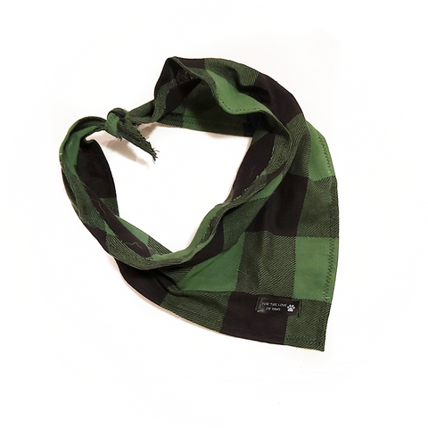 Black and Green Checker Bandana