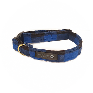 Royal Blue and Black Checker Collar
