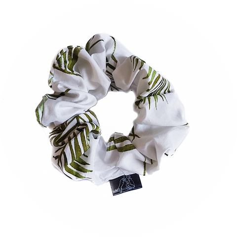 Palm Leaves Scrunchie