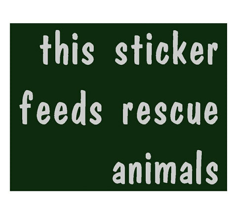 Feeding Rescues Sticker