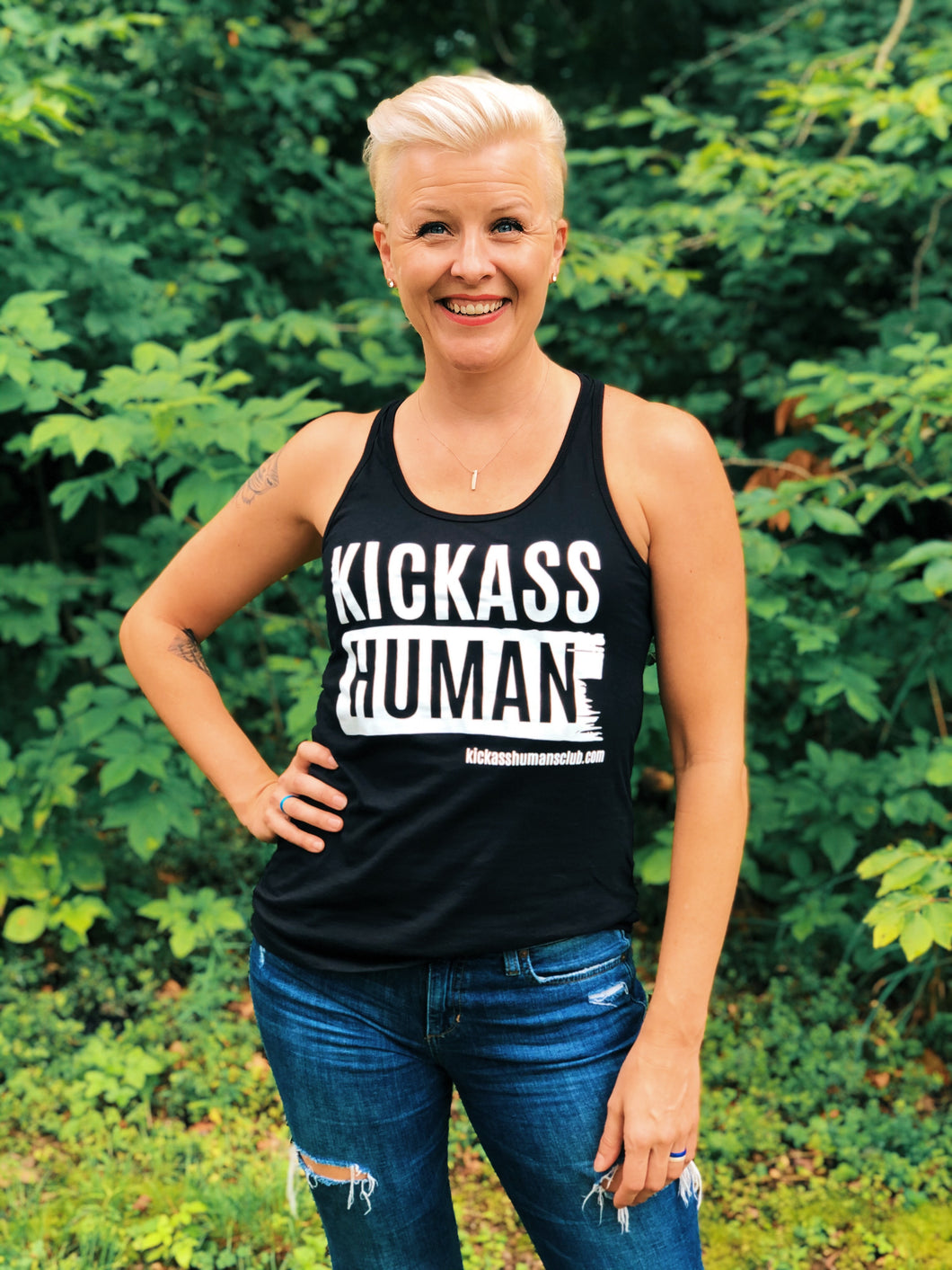 KICKASS HUMAN Ladies Bella Tank
