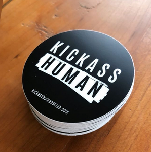 Kickass Human (pack of 50 stickers)