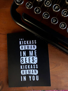The Kickass Human In Me Sees The Kickass Human In You Greeting Cards (Set of 5)