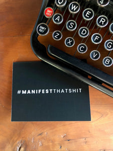 #MANIFESTTHATSHIT Greeting Cards (Set of 5)