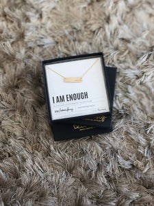 ENOUGH Small Bar Necklace