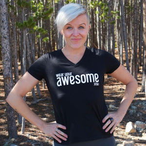 WEAR YOUR AWESOME Ladies T-Shirt