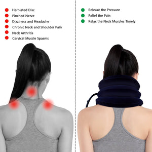 Expandable Pain-Relief Neck Pillow Collar