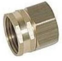 "1/4"" Brass Push to Connect Garden Hose Swivel"