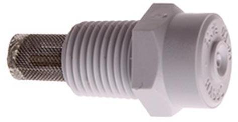 "1/8"" plastic misting nozzle with filter"