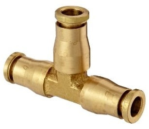 "1/4"" Brass Push to Connect Union Tee"