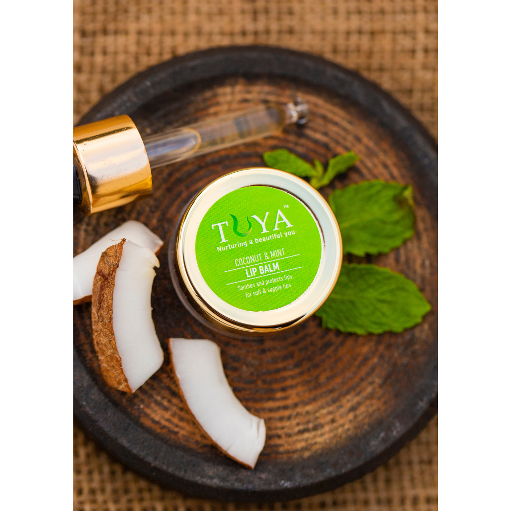 Coconut and Mint Lip Balm