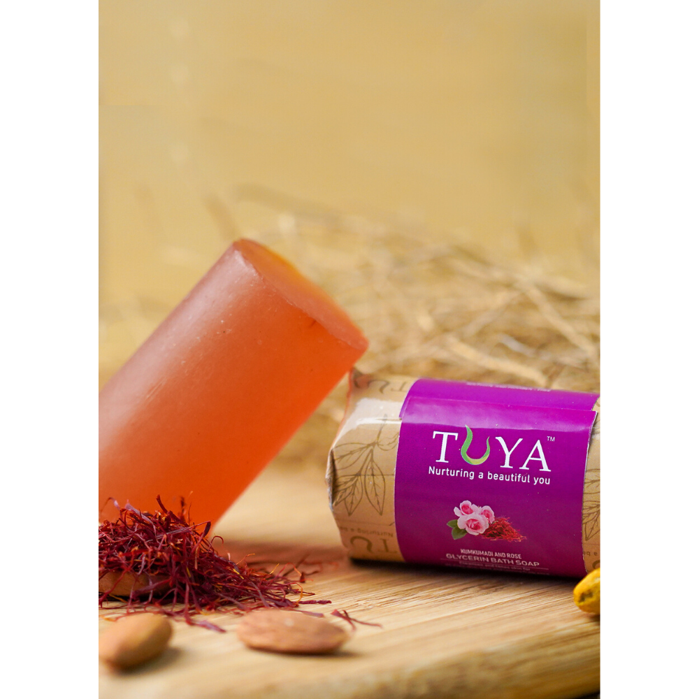 Kumkumadi and Rose Bath Soap