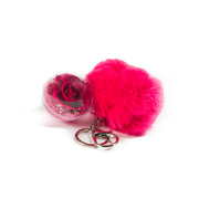 keychain pompom Fleur de luxe montreal fleurs eternity roses forever roses flower box montreal  mfleurs  fleurs pas cher venus et fleurs montreal flowers delivery fleurs rose éternelle ever lasting roses gift box valentine day champagne gift card red sephora chocolate luxury toronto