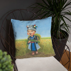 Rice Harvest Pillow