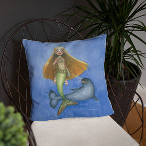 The Narwhal Princess Pillow