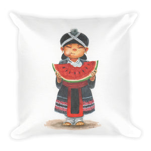 Watermelon Girl Pillow