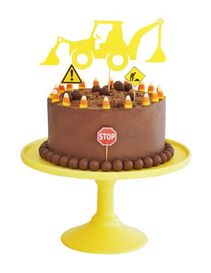 kids birthday party cake diy kit construction theme - Kids Events & Co.