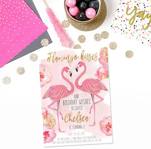 Invitation - Summer Party Flamingo