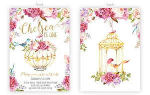 Invitation - Boho Party Floral