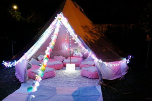 Kids birthday boho glamping sleepover party - Kids Events & Co.