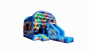 Superhero jumping castle
