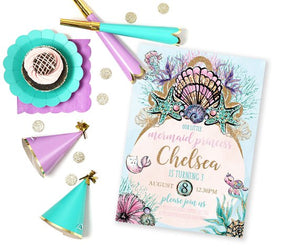 Invitation - Mermaid Princess Party