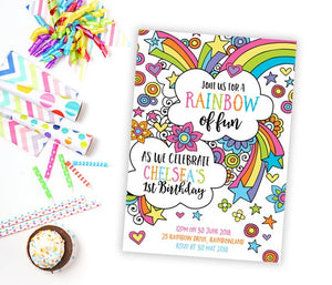 Invitation - Rainbow Party