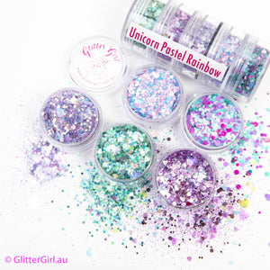 Glitter Girl Pastel Rainbow Collection