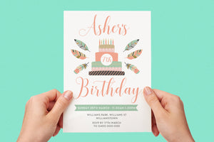 Invitation - Boho Party