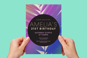 Kids birthday party summer invitation - Kids Events & Co.