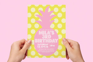 Invitation - Summer Party Pink Pineapple