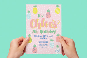 Invitation - Summer Party Pastel Pineapple